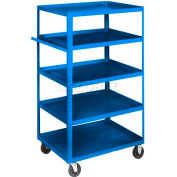 Equipto® 164D Stock Cart 5 Shelves 800 Lb. Cap. 30x16x60 - Textured Regal Blue