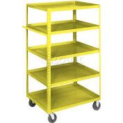 Equipto® 164D Stock Cart 5 Shelves 800 Lb. 30x16x60 - Textured Safety Yellow
