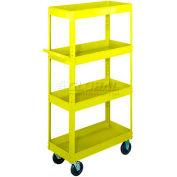 Equipto®165 Stock Cart 4 Shelves 800 Lb. 36x24x60 - Textured Safety Yellow