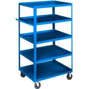Equipto® 166D Stock Cart 5 Shelves 800 Lb. 36x24x60 - Textured Regal Blue