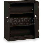 "Equipto Counter High Cabinet, 36""W x 18""D x 42""H, Textured Black"