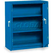 "Equipto Counter High Cabinet, 36""W x 18""D x 42""H, Textured Regal Blue"