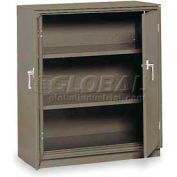 """Equipto Counter High Cabinet, 36""""W x 18""""D x 42""""H, Smooth Office Gray"""