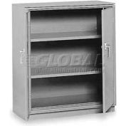 "Equipto Counter High Cabinet, 36""W x 24""D x 42""H, Textured Dove Gray"