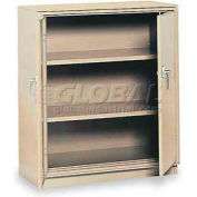 "Equipto Counter High Cabinet, 36""W x 24""D x 42""H, Textured Putty"