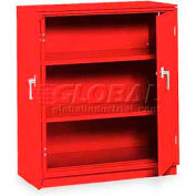 "Equipto Counter High Cabinet, 36""W x 24""D x 42""H, Textured Cherry Red"