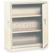 "Equipto Counter High Cabinet, 36""W x 24""D x 42""H, Smooth Reflective White"