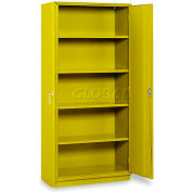 "Equipto 5-Shelf Storage Cabinet 36""W x 18""D x 78""H - Textured Safety Yellow"