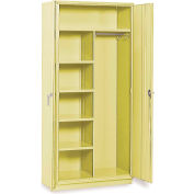 "Equipto 36""W x 18""D Combination Cabinet - Textured Safety Yellow"