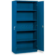 "Equipto 5-Shelf Storage Cabinet 36""W x 24""D x 78""H - Textured Regal Blue"