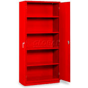 """Equipto 5-Shelf Storage Cabinet 36""""W x 24""""D x 78""""H - Textured Cherry Red"""