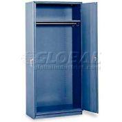 """Equipto Wardrobe Cabinet, 36""""W x 24""""D x 78""""H, Textured Regal Blue"""