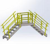 Equipto 1724B08 Cross Over Bridge, 36-1/2' Overall Width, 8 Stairs