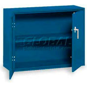 "Equipto Desk High Cabinet, 36""W x 18""D x 29""H, Textured Regal Blue"