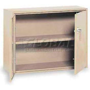 "Equipto Desk High Cabinet, 36""W x 18""D x 29""H, Textured Putty"