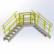 "Equipto 1730B07 Cross Over Bridge, 35"" Overall Width, 7 Stairs"