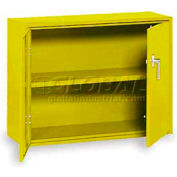 "Equipto Handy Cabinet w/1 Shelf, 30""W x 13""D x 27""H, Textured Safety Yellow"
