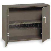 "Equipto Handy Cabinet w/1 Shelf & Lower Handle Placement, 30""W x 13""D x 27""H, Textured Evergreen"