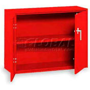 """Equipto Handy Cabinet w/1 Shelf & Lower Handle Placement, 30""""W x 13""""D x 27""""H, Textured Cherry Red"""