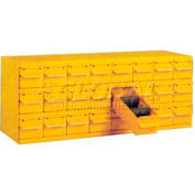 "Equipto Cabinet w/18 Drawers, 34-1/8""W x 18""D x 13-5/8""H, Textured Safety Yellow"