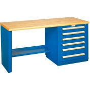 Modular Drawer Bench - 8' - One Modular Cabinet, Blue
