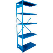 "Equipto VG-20 Gauge Open Shelf Add On Unit - 36""W X 24""D X 84""H w/ 7 Shelves, Textured Regal Blue"