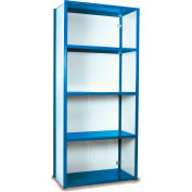 "Equipto VG-20 Gauge Closed Shelf Starter Unit - 36""W X 18""D X 84""H w/ 5 Shelves, Regal Blue"