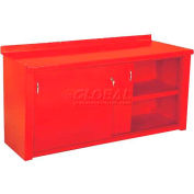 Closed Workbench w/Sliding Door - 6', Red