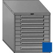 "Equipto 30""W Modular Cabinet 33-1/2""H, 9 Drawers No Divider, No Lock-Textured Regal Blue"