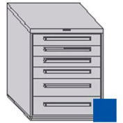 "Equipto 30""W Modular Cabinet 6 Drawers w/Dividers, 38""H, Keyed Alike Lock-Textured Regal Blue"