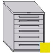 "Equipto 30""W Modular Cabinet 6 Drawers No Divider, 38""H & Lock-Textured Safety Yellow"