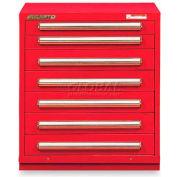 "Equipto 30""W Modular Cabinet 7 Drawers No Divider, 33-1/2""H, & Lock-Textured Cherry Red"