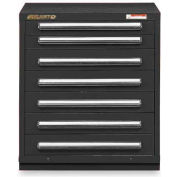"Equipto 30""Wx33-1/2""H Modular Cabinet 7 Drawers w/Dividers, & Lock-Textured Black"