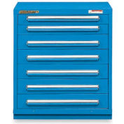 """Equipto 30""""Wx33-1/2""""H Modular Cabinet 7 Drawers w/Dividers, & Lock-Textured Regal Blue"""