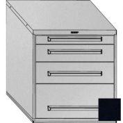 "Equipto 30""Wx33-1/2""H Modular Cabinet 4 Drawers No Divider, & Lock-Textured Black"