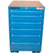 "Equipto 30""W Modular Cabinet 33-1/2""H, 6 Drawers w/Dividers, Keyed Alike Lock-Textured Regal Blue"