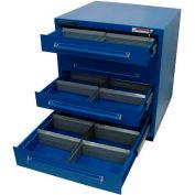 "Equipto 30""Wx33-1/2""H Modular Cabinet 6 Drawers w/Dividers, Keyed Alike Lock-Textured Regal Blue"
