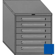 """Equipto 30""""Wx33-1/2""""H Modular Cabinet 6 Drawers w/Dividers, No Lock-Textured Regal Blue"""