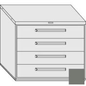 "Equipto 45""W Modular Cabinet 38""H 4 Drawers w/Dividers, Keyed Alike Lock-Smooth Office Gray"