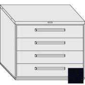 "Equipto 45""W Modular Cabinet 38""H 4 Drawers No Divider, & Lock-Textured Black"