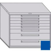 """Equipto 45""""W Modular Cabinet 38""""H 8 Drawers w/Dividers, & Lock-Textured Regal Blue"""