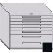 "Equipto 45""W Modular Cabinet 38""H 8 Drawers w/Dividers, Keyed Alike Lock-Textured Black"