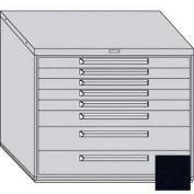 "Equipto 45""W Modular Cabinet 38""H 8 Drawers No Divider, Keyed Alike Lock-Textured Black"
