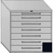 "Equipto 45""W Modular Cabinet 44""H, 7 Drawers No Divider, No Lock-Textured Black"