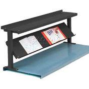 "Equipto® Production Booster 452T48-BK, 48""W X 24""H, 2 Shelves, Black"