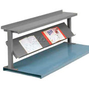 """Equipto® Production Booster 452T48-GY, 48""""W X 24""""H, 2 Shelves, Office Gray"""
