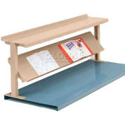 "Equipto® Production Booster 452T48-PY, 48""W X 24""H, 2 Shelves, Putty"
