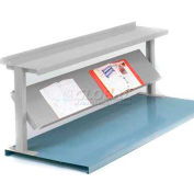 """Equipto® Production Booster 452T72-LG, 72""""W X 24""""H, 2 Shelves, Dove Gray"""