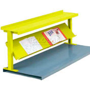 "Equipto® Production Booster 452T72-YL, 72""W X 24""H, 2 Shelves, Safety Yellow"