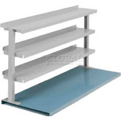 """Equipto® Production Booster 463T48-LG, 48""""W X 36""""H, 3 Shelves, Dove Gray"""